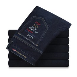 Wholesale France Business - Tace Shark Eden Park Hommes Jeans Fashion France Spring Summer Men's Smart Casual Business Jeans New Design High Quality
