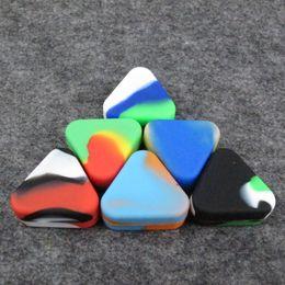 Резиновые контейнеры онлайн-Треугольник Силиконовый контейнер пищевой небольшой резиновый 1.5 мл антипригарным банки Dab инструмент для хранения масла многоцветный антипригарным держатель воска DHL бесплатно