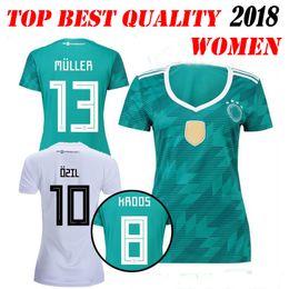 Wholesale Football German - 2018 GERMAN Women soccer jersey home away muller HUMMELS 18 19 Germany OZIL KROOS DRAHLER WERNER football uniform shirts maillot de foot