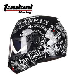 capacete de motocicleta de face aberta xxl Desconto 2018 New Tanked Racing Dupla lente Virar Para Cima Capacete Da Motocicleta T270 Capacetes De Moto Rosto Aberto feito de ABS e viseira da lente PC ECE