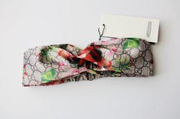 ragazze Headband Head Scarf per le donne Marca 100% seta fasce elastiche per capelli Ragazze Retro Floral Bird Flower Turbante Headwraps 4 colori da
