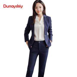 c44ca925a522 Dunayskiy Women New Fashion Pant Tute Manica lunga Office Lady Work Wears  Blazer e pantaloni Plus Size 3XL Abiti da lavoro Uniforme vestiti dei  pantaloni ...