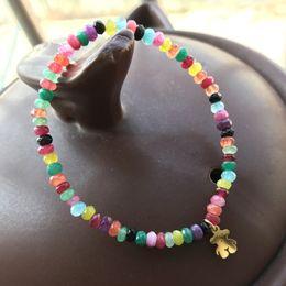 Wholesale Elastic Bracelet String - 2018 New Wholesale Jewelry elastic string Colorful Beaded Bracelet bears gift for Women Birthday