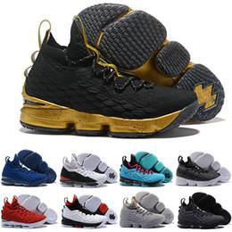 on sale 46bad c6927 Nike LeBron 15 LBJ15 2018 Neue Ankunft Designer Schuhe 15 GLEICHHEIT  Schwarz Weiß Basketball Schuhe für Männer 15 s EP Sport Training Turnschuhe  Größe 40-46