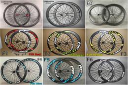 2019 etiquetas da roda de carbono da bicicleta da estrada 3 K / UD FFWD F6R 60mm rodas de estrada de carbono Com 7 modelos de 23mm de largura Novatec 271 hub bicicleta de estrada rodas de carbono Frete grátis