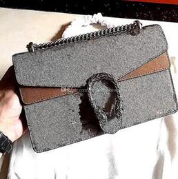 G diseño de letras online-clásico de la manera caliente señora mujer mujer G diseño carta cadena de lujo bolso crossbody bolso de hombro de solapa de cuero genuino 400249 tamaño 28 cm