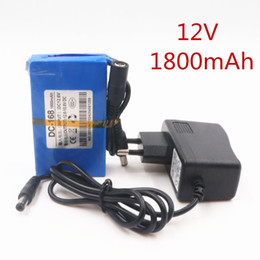 Wholesale 12v li ion batteries - Durable DC 12V 1800 MAH Li-ion High Capacity Large Rechargeable Battery Great Li-ion Battery For Camera Backup Drop Shipping