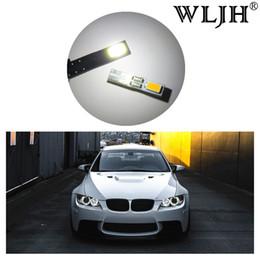 Wholesale Volkswagen Headlights - WLJH Canbus T5 LED 74 12V Car Styling Angle Eyes LED for Headlight Dashboard Gauge Instrument Door Wedge Gauge Lamp Bulb