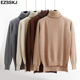 High Quality Turtleneck Sweater Women Winter thick Pullover Solid Knitted  Sweater Tops for Women Autumn Female oversized Sweater Y18101602 79bfb77ac