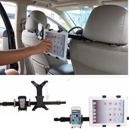 Pouce pouces en Ligne-2-en-1 siège arrière de voiture support de support d'appuie-tête support support de tablette kit 7-10 pouces pour iphone 6 pour samsung pour iPad 4 air AAA995