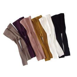 Crianças magras on-line-Outono Menino Meninas Leggings Listrado Skinny Calças Lápis Kid Girls Rib Leggings Cintura Alta Crianças Roupas para Bebê Clothin