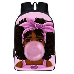 bolsa de regalo reina Rebajas Mochila negra de la muchacha 16inch impresa los bolsos de escuela negros de la reina para el regalo de los niños del Bookbag de la escuela de las muchachas modificado para requisitos particulares