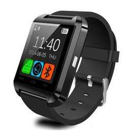 Wholesale russian clock - Bluetooth U8 Smart watch Clock Sync Notifier Connectivity For Apple iphone