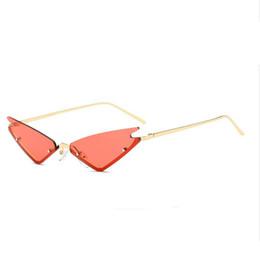 a761b84ed46768 Vintage Cat Eye Sonnenbrille Frauen 2018 Marke Designer Halbrahmen  Sonnenbrille Männer Randlose Spiegel Brillen UV400