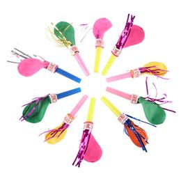 Os presentes os mais frescos do bebê on-line-Cool baby toys engraçado Apito Balões Fun Sound balão Bola de Sopro Crianças Festa de Aniversário Decoração Suprimentos Presentes