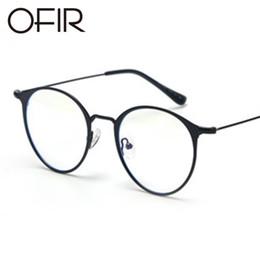 OFIR 2017 occhiali piatti tondi telaio in metallo piatto coreano occhiali marchio di abbigliamento designer unisex può dotato di miope cheap korean glasses da occhiali coreani fornitori