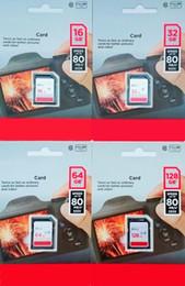 Argentina 2019 80 MB / s de alta velocidad 32 GB 64 GB 128 GB Tarjeta de memoria Big SD Class 10 C10 en paquete de blister para cámaras de acción Videocámaras deportivas cheap sd memory camcorder Suministro