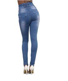 e2b26cb0bd7 Autumn Winter High Waist Jeans For Women 2018 Back Zipper Skinny Pencil Denim  Pants Elastic Stretched Trousers