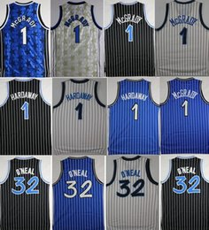 Wholesale Mcgrady S - 2018 McGrady Mens Throwback 32 Retro Shaquille O'Neal Shaq Jersey Stitched 1 Tracy McGrady 1 Penny Hardaway Jersey Stitched College mixed