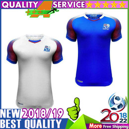 Wholesale Island Shirts - Iceland 2018 World Cup island jerseys home away SIGURDSSON SIGTHORSSON top quality soccer jerseys 18 19 Iceland national football shirts AAA