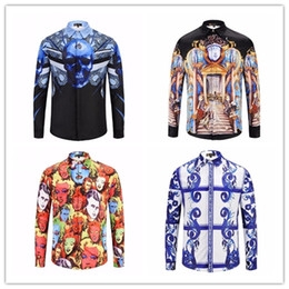 Wholesale Wholesale Youth Shirts - 6 styles Classic 3D Digital Printing Trend Youth Cardigan Shirt Men's Top Cardigan Cardigan Show models