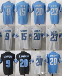 1a09b8a1f stafford jersey Promo Codes - Detroit Men s Lions   9 Matthew Stafford  Jersey 20 Barry Sanders
