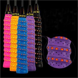 Wholesale Blue Rackets - Wholesale-10pcs lot Tennis fishing rod Sweatband Two-color Anti-slip Breathable Sport Over Grip griffband Badminton racket sweatband