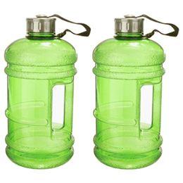 Обучение водным бутылкам онлайн-New 2.2L Large Capacity Water Bottle Outdoor Sports Gym Space Half Gallon Fitness Training Camping Running Workout Water Bottle