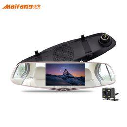 Argentina 5.0 pulgadas Full HD 1080P cámara doble espejo retrovisor Dashcam Car DVR cámara Dash Cam Grabador de video digital Retrovisor espejo 5V 1A Auto Video cheap novatek hd dash camera Suministro