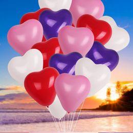 teppichrollen großhandel Rabatt 100 Teile / los 10 zoll 2,2g Herzförmigen Latex Aufblasbare Luftballons Hochzeit Geburtstag Party Urlaub Dekoration Luftballons
