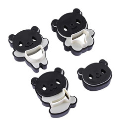 cutters molds Coupons - Plastic Cartoon Panda Molds Cookies Cutters Cooking Tool Set Cake Baking Tools Cute DIY Sandwich Mold Kitchen Accessories 3 5hy hh