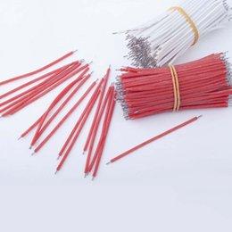 Fio preto branco vermelho on-line-Silicone Fio LED suave LED eletrônico fio de ligação 5 centímetros de alta temperatura fio resistente Branco Vermelho Opcional Preto