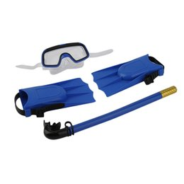 ab0f60b9a67 1 Set Snorkeling Diving Mask Breathing Tube Long Fins Foot Flippers 3Pcs  Snorkels Set Swimming Pool Training Equipment Hot