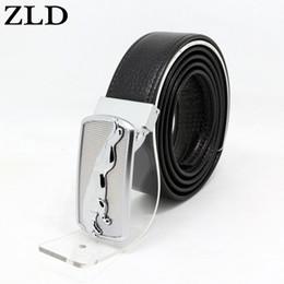 Wholesale leopard jeans men - ZLD cowskin genuine leather belt for men Strap male Leopard Smooth buckle vintage jeans cowboy Casual designer brand belt