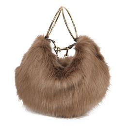 Меховой мех онлайн-Women Bag Female Handbags Leather Fur Chain Shoulder Bag Crossbody  Fashion Cite Ladies Hot Sale Girl  Handbag