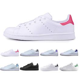new product 2d2a7 c1f13 adidas Stan Smith Nueva alta calidad a estrenar zapatos stan moda snith  sneakers casual de cuero para hombre mujeres deporte zapatillas para correr  ...