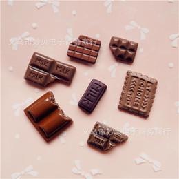 adesivos diy da resina Desconto 3d simulado adesivo de chocolate diy resina geladeira adesivos ímã do telefone móvel shell material pacote de peças de geladeira ímãs do escritório 8 wl jj