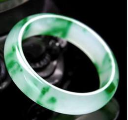 bangle bianco giadeite Sconti Trasporto libero001586 nuovo modo bello braccialetto di pietra verde naturale delle gemme giadeite bianche naturali del braccialetto