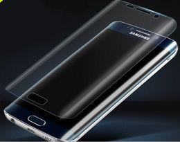 Protetor de tela s6 curva de borda on-line-8 PLUS Soft PET 3D Curvo Capa Protetora de Tela Curva para Samsung Galaxy S9 S9 PLUS NOTE 9 8 S8 S8 PLUS S7 S7 BORDA S6 BORDA IPHONE X 7