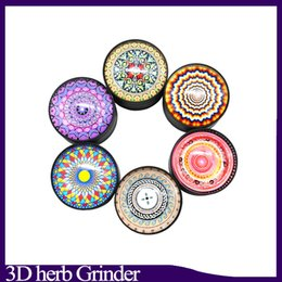 grinder scraper Coupons - 3D Metal Tobacco Smoking Herb Grinder 50mm 3 Layers Camouflage With Magentic With Scraper Smoking Filter Accessories HH7-1375 0266223