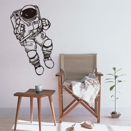 Wholesale Nature Wallpaper Poster Wall - 3D Cute Astronauts Wall Stickers Space Cartoon Mural Art For Kids Room Sitting Room Wall Posters Home Decor Wallpaper