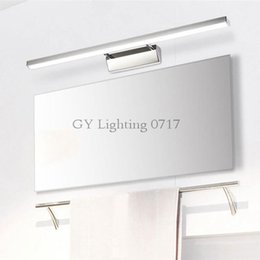 Wholesale finished bathrooms - L40 50 60 70cm Modern stainless steel finished led mirror light 7 8 10 12W bathroom lamp wall lights for Dresser Hotel home