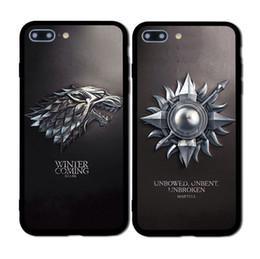 2019 coffrets de téléphone Jeu Thrones Daenerys Dragon Jon Snow tannion lannister étui à téléphone souple Fundas Pour iPhone 7 7plus 6 6S 6 Plus 5 8 8 Plus coffrets de téléphone pas cher