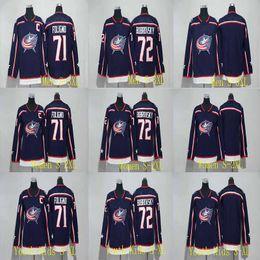 Wholesale Womens Xl Jacket - Mens Womens Youth 2017-2018 Season Columbus Blue Jackets Jersey Blank 71 Nick Foligno 72 Sergei Bobrovsky Hockey Jerseys Cheap