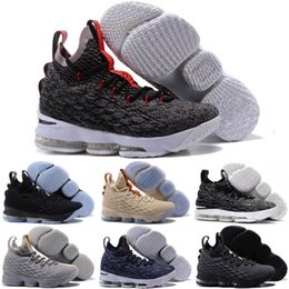 301b6ff46d2 2018 New Arrival High Quality XV Lebron 15 EQUALITY Black White Basketball  Shoes for Men 15s EP Sports Training Sneakers Size 40-46