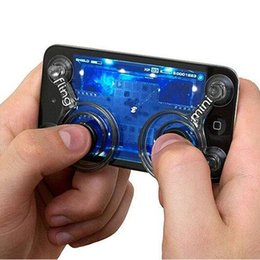 Wholesale Arcade For Xbox - FreeShipping 2Pcs Set Touch Screen Phone Game Mini Joysticks with Suckers Smartphone Tablet Accessories For Arcade Games