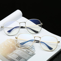 marcos de gafas unisex de metal redondo Rebajas Anteojos Gafas redondas Diseñador Metal Zero Diopter Eyewear Marco de lujo Óptico Llanura Miopía Marco Espejo Unisex