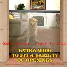 Canada Dropshipping 2018 Dog Gate La porte ingénieuse magique pour animaux de compagnie de maille pour les chiens Safe Guard et installer des clôtures pour chien de clôture de sécurité pour chien Offre
