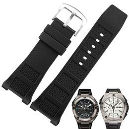 Venda de la correa 30MM de caucho de silicona reloj de reloj IWC Ingenieur familia IWC500501 desde fabricantes