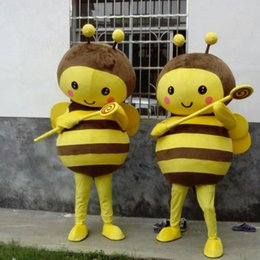 Wholesale Make Bee Costume - Professional New Big Bee Mascot Costume Fancy Dress Adult Size